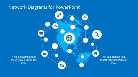 simple network diagrams  powerpoint slidemodel