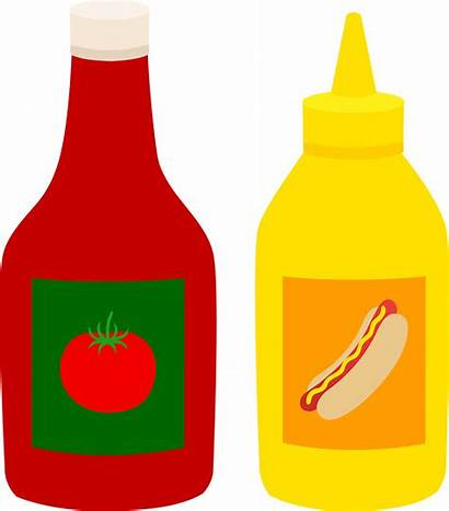 Mustard Ketchup Bottles Clip Sweetclipart