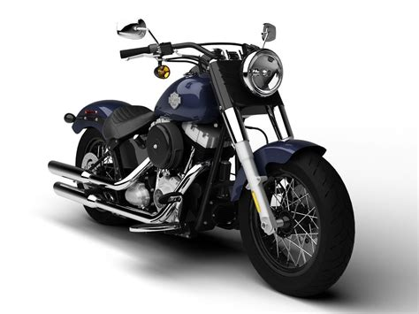Harley-davidson Fls Softail Slim 2015 3d Model Max Obj 3ds