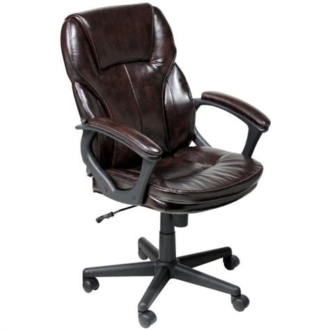 manager office chair in brown puresoft faux leather 43669