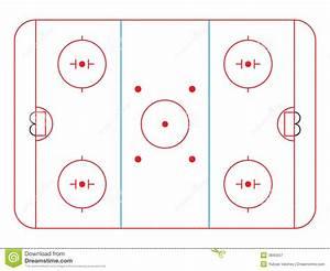 Hockey Rink Stock Vector  Illustration Of White  Center