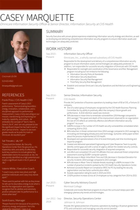 information security resume summary