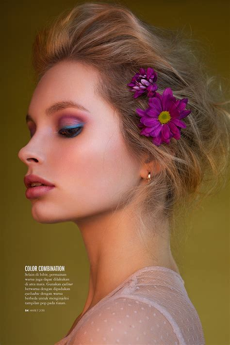blossom beauty marie claire indonesia beauty editorial