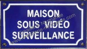 Video Surveillance Maison : panneau pancarte plaque acier maill humoristique maison ~ Premium-room.com Idées de Décoration