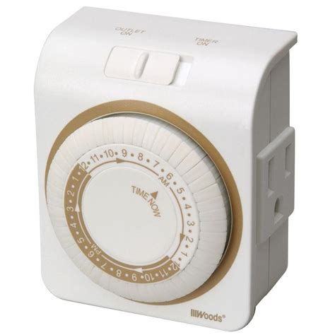 woods  amp  hour indoor plug  lamp  appliance
