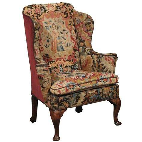 reclining wingback 18th century wing chair in walnut with