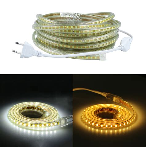 les a leds 220v 220v smd 2835 led light 1m 2m 3m 4m 5m 6m 7m 8m 9m 10m 15m 20m power 120leds