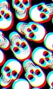3D trippy skulls wallpaper   Skull wallpaper, Skull, Cat ...
