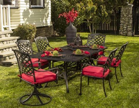 berkshire by hanamint 6 seat luxury cast aluminum patio
