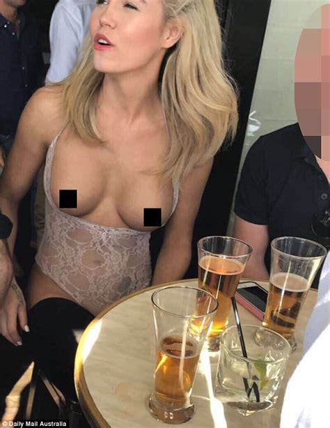The Bachelor S Simone Ormesher Topless At Buck S Party Daily Mail Online