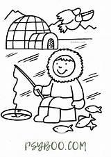 Eskimo Igloo Psyboo sketch template