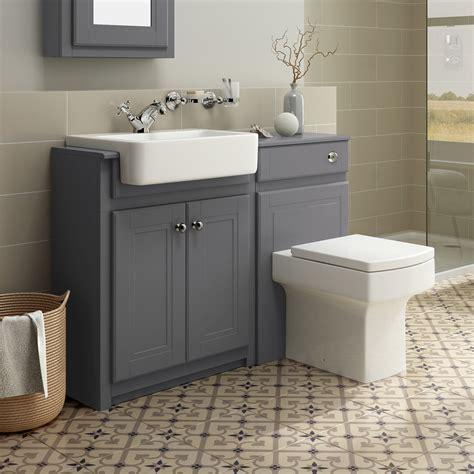 Bathroom Vanity Units - traditional grey bathroom vanity unit basin furniture