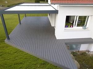 Bois Composite Pour Terrasse : photo terrasse bois composite gris diverses ~ Edinachiropracticcenter.com Idées de Décoration