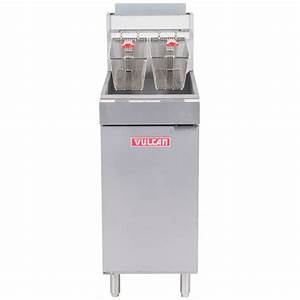 Vulcan Lg400-1 45-50 Lb  Natural Gas Floor Fryer