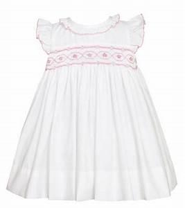 Petit Bebe By Anavini Baby Toddler Girls White Poplin