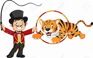 Circus clipart circus tiger - Pencil and in color circus ...