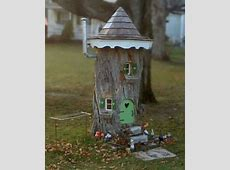 1000+ images about tree stump fairy house on Pinterest