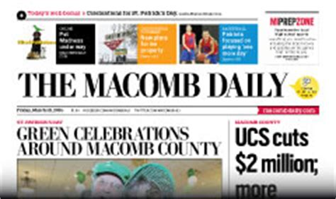 macomb daily phone number macomb daily newspaper subscription lowest prices on