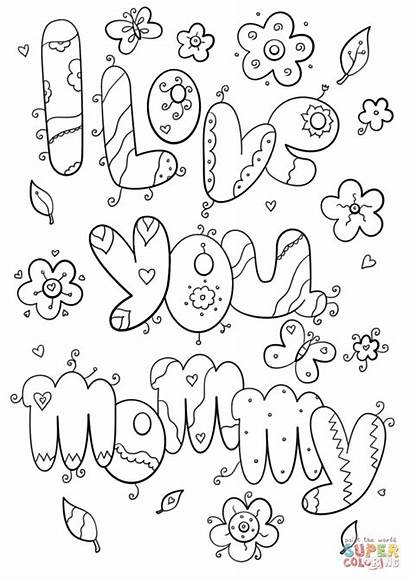 Coloring Mom Pages Printable Dad Getcolorings
