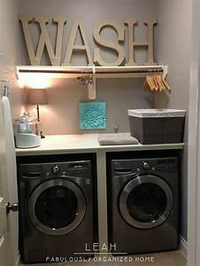 Laundry Room for tiny spaces Homed Pinterest Laundry