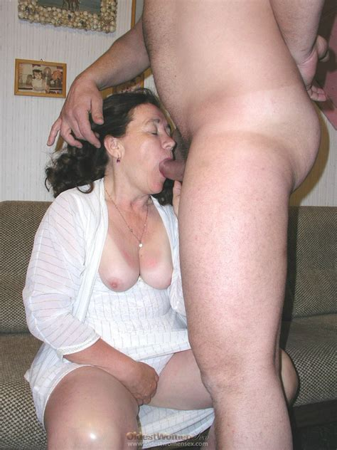 Grandmother Dressed In White Excites This Dick Granny