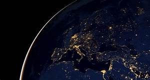 Earth Europe Night Space