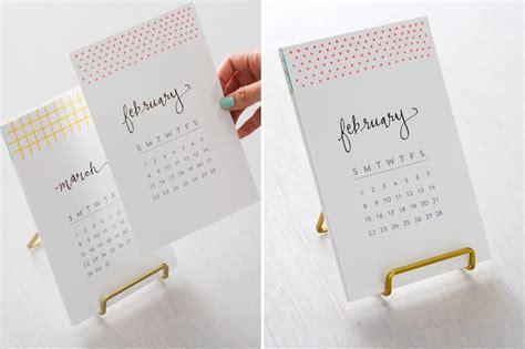 kalender selbst gestalten nuetzliche bastelideen fuer wand und tisch