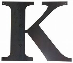 Rustic large letter quotkquot rustic metal wall art by for Large letter k wall decor