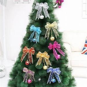 Christmas, Ornaments, Mesh, Bow, Ribbon, Christmas, Tree, Pendant, Home, Window, Hanging, Decoration