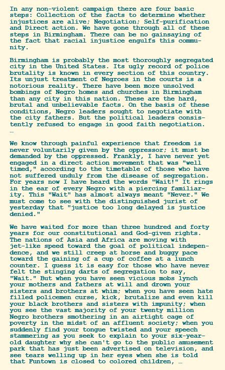 summary of letter from birmingham the national archives heroes villains king civil 24996