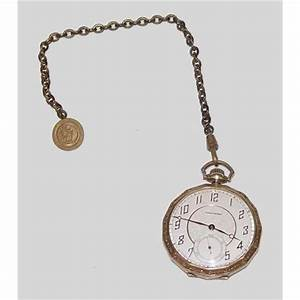 19 Jewel Waltham Pocket Watch Fob Chain Gold pl#2380500