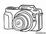 Camera Coloring Drawing Pages Cameras Digital Sony Easy Clipart Printable Simple Drawings Canon Dibujo Colouring Google Cliparts Kidopo Crafts Nikon sketch template