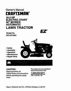 Craftsman 42 Inch Riding Mower Parts Diagram