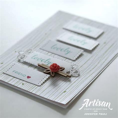 Papier Vasen Basteln Mit Liebe Bestickt by Bestickte Gr 252 223 E Und Wunderbare Stempel Stitched Label