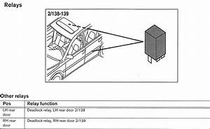 Volvo V70  2002  - Wiring Diagrams - Relays