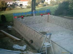 installation des elements a sceller With construire sa piscine en dur