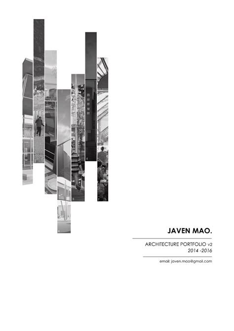 Javen Mao  Architecture Portfolio …  For Internship Pinte…