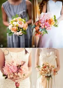 Peach Amaryllis Bouquet Wedding