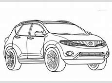 Ausmalbild Nissan Murano Ausmalbilder kostenlos zum