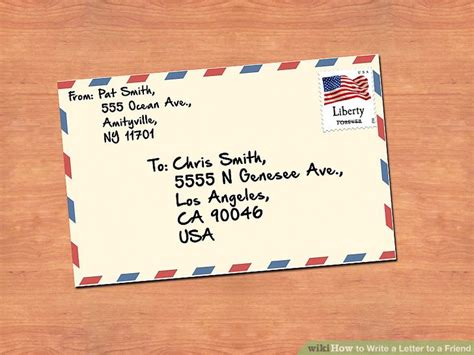 write  letter   friend  pictures wikihow