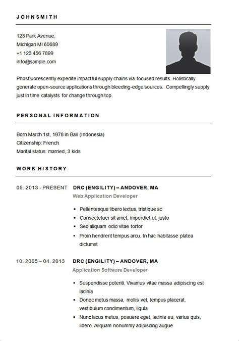 sle simple resume format best resume gallery