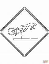 Coloring Pages Sign Care Take Tracks Cyclists Zealand Rail Warning sketch template