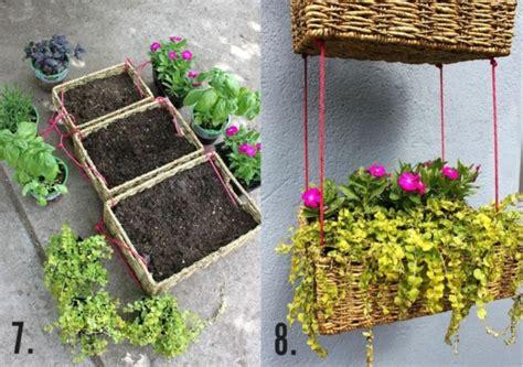 Garten Ideen Zum Selbermachen  Blumen Im Korb Bepflanzen