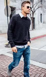 Untucked with a sweatshirt jeans and grey chukkas.   Casual Looks   Pinterest   Black watches ...
