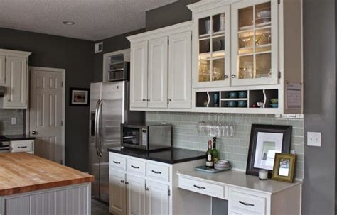 finishes for kitchen cabinets oh so lovely our 500 diy kitchen remodel concrete 7199