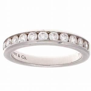 tiffany and co diamond platinum wedding band ring at 1stdibs With tiffany platinum wedding ring