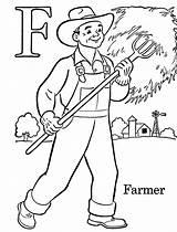 Coloring Farmer Labor Printable sketch template