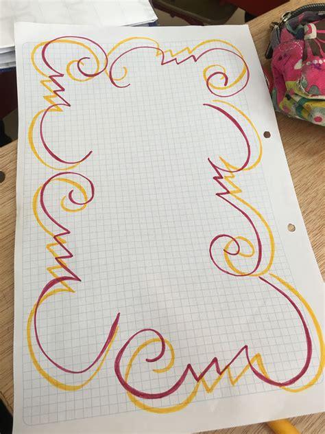 Resultado de imagen para formas decorativas para cuadernos letras. Margen | Cuadernos creativos, Decorar hojas de cuaderno, Margenes para cuadernos