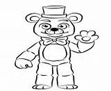 Coloring Freddy Pages Golden Nights Fnaf Five Printable Freddys Template Info sketch template
