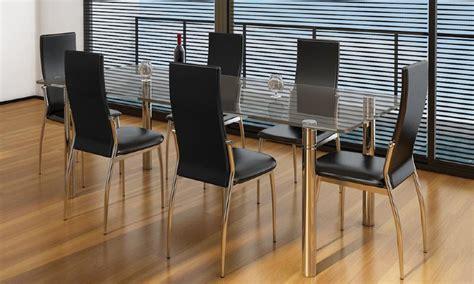 lot de 6 chaises salle a manger chaises salle 224 manger noires similicuir lot de 4